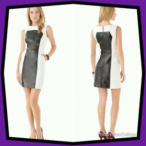 Milly Nina Leather Panel Dress- Size 2